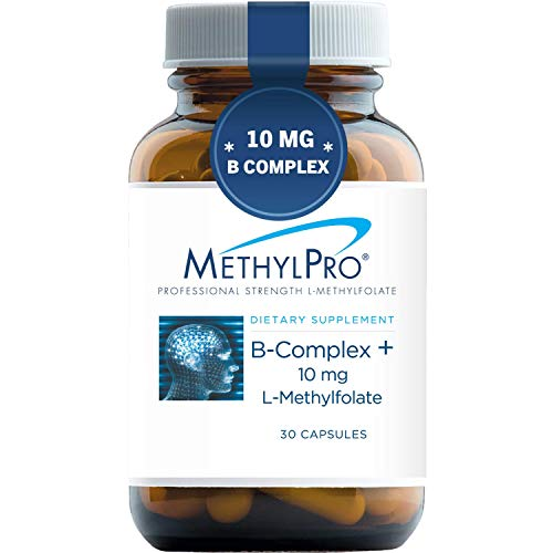 MethylPro B-Complex + 10mg L-Methylfolate (30 Capsules) - Professional Strength B Vitamins for Energy, Mood + Immune Support with Active Methyl Folate, Methyl B12, B6 as P-5-P - Gluten-Free