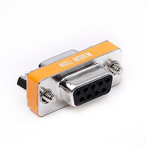 Arnorin Nullmodem Adapter DB9 Serial RS232 Buchse auf Buchse Slimline Daten Transfer Serial Port Adapter