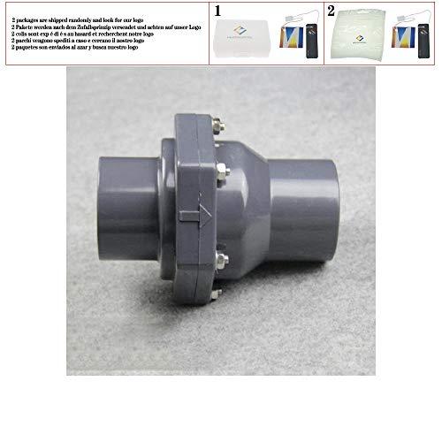 PVC-Rückschlagventil 50MM Kunststoffinnenseite Rückschlagklappe DN25 DN32 DN40 DN50 Ventil Universal vertikal horizontal,40mm
