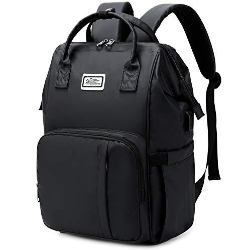 SD SHADOW DOMAIN Laptoprucksack - Arbeitsrucksack, Reiserucksack, Schulrucksack für Damen, Herren & Kinder - Wasserabweisend, robust - USB-Anschluss, diebstahlsichere Tasche