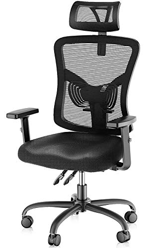 NOBLEWELL Office Chair, Ergonomic Mesh Desk Chair with...