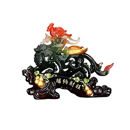 YANJ Estatua de Feng Shui Pi Xiu Decoración Oficina Muebles para el hogar Feng Shui Pi Xiu Estatua Decoración Regalo de Apertura Artesanía Símbolo de Riqueza y Buena Suerte Adornos de decoración