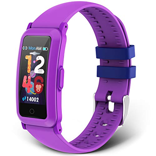 moreFit Kids Fitness Tracker New Upgraded Waterproof Activity Tracker Watch for Children Health Exercise Watch with Heart Rate Sleep Monitor Pedometer Watch Calorie Counter