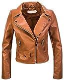 Rock Creek Designer D-414 - Giacca da motociclista in ecopelle, da donna marrone S