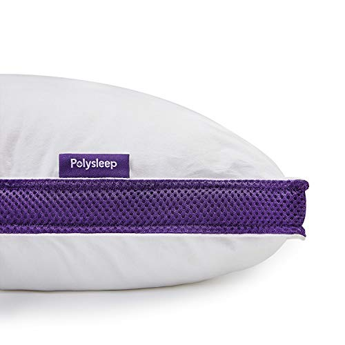 """Polysleep Antimicrobial Memory Foam Pillow - Hypoallergenic Adjustable Neck & Body Bed Pillows, Medical Grade Cooling Memory Foam, 100% Cotton Washable Case - Queen Size, 19"""" x 26"""""""