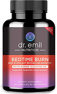 Dr. Emil - PM Fat Burner, Sleep Aid and Night Time Appetite Suppressant - Stimulant-Free Weight Loss Pills and Metabolism Booster for Men and Women (60 Diet Pills)