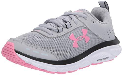Under Armour Women's Charged Assert 8 Running Shoe, Mod Gray (103)/White, 8.5
