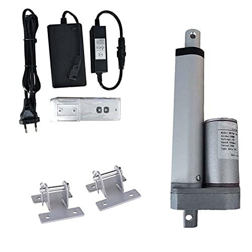 SHENGGLL Actuador Lineal de 12V DC + Fuente de alimentación + Remoto inalámbrico + Soportes de Montaje Terraco 200 mm-400mm (Speed(RPM) : 200N 30mm s, Voltage(V) : 250mm Stroke)