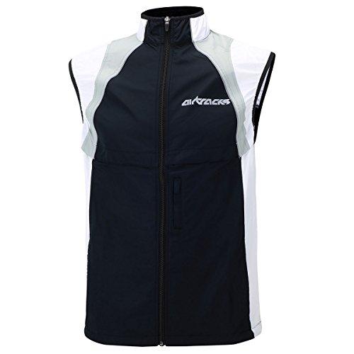 Chaleco para ciclismo y running de Airtracks, cortavientos, primavera/verano, hombre, color Negro , tamaño XXXL