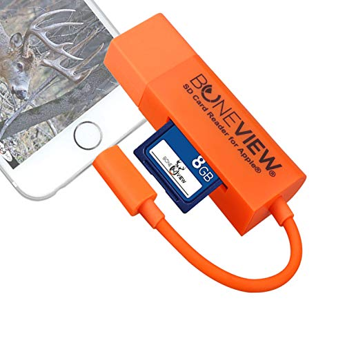 Trail Camera Viewer for iPhone, Corded SD Memory Card Reader Plays...