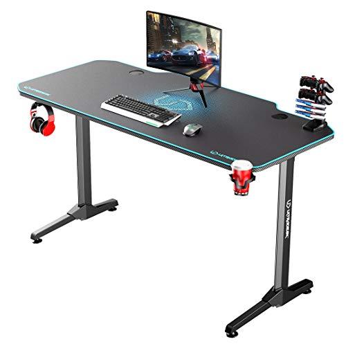 Ultradesk Frag Blau - Computertisch, Schreibtisch, Gaming Tisch mit Mauspad und Zubehör, L: 140cm T: 66cm H: 76cm