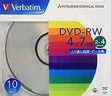 Verbatim バーベイタム データ用 DVD-RWくり返し記録 4.7GB 10枚 シルバーディスク 2-4倍速 DHW47Y10V1