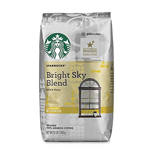 Starbucks Blonde Roast Ground Coffee — Bright Sky — 100% Arabica — 6 bags (12 oz. each)