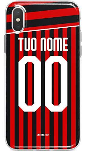 MYCASEFC Custodia AC Milan Milano Cover Personalizzabile in Silicone TPU per Telefono - Scegli Il Tuo Nome e Numero (Samsung Galaxy J5 2016)