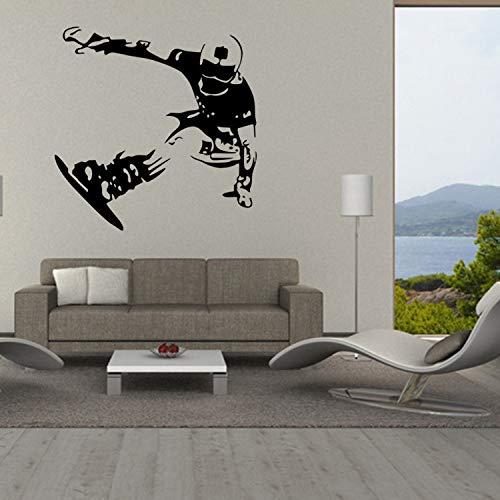 Patinage sur glace ski décoration stickers muraux garçon chambre fond autocollants étanche amovible 30X45 cm