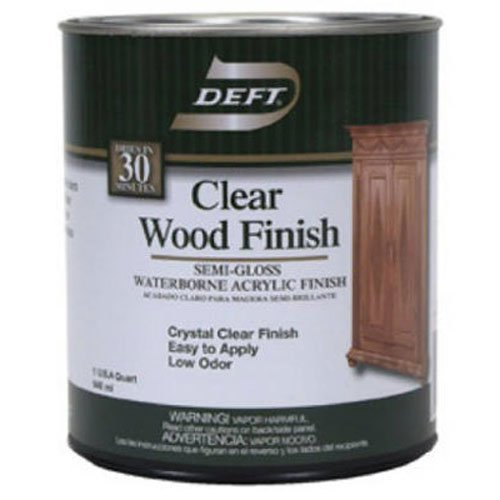 Deft Interior DFT108/04 Waterborne Clear Wood Finish Semi-Gloss, Quart