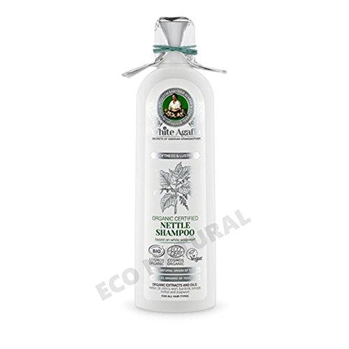 White agafia - Organic certified nettle shampoo softness & lustre 280ml
