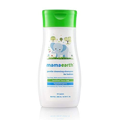 Mamaearth Gentle Cleansing Shampoo for babies (200 ml, 0-5 Yrs)