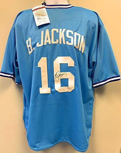 Bo Jackson Kansas City Royals Signed Autograph Custom Jersey JSA Witnessed Certified