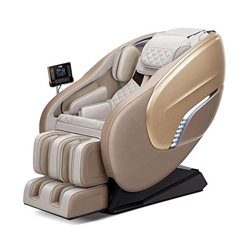 Massage Chair Recliner, Zero Gravity Full Body Shiatsu Luxurious Electric Massage Chair with Stretched mode Heating back and Foot Roller,Beige