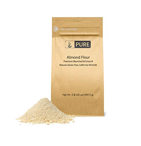 Almond Flour (2 lb.) by Pure Ingredients, Paleo and Keto Friendly, Gluten Free, Vegan, Product of California, Blanched