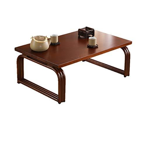 Nachtkastjes Japanse theetafel, Single Layer Houten lage tafel huis Balkon Patio Leisure Side Table Bed tafeltje, 60/70 / 80cm mand tafel (Color : B, Size : 80 * 50 * 30CM)