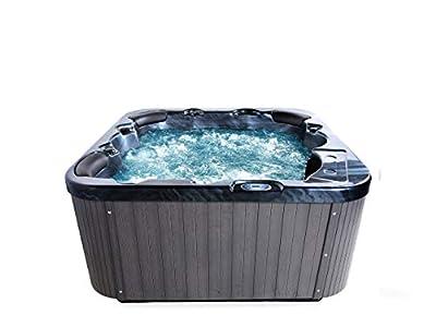 Spa exterior - Jacuzzi - Bañera de hidromasaje - Acrílico gris oscuro - SANREMO