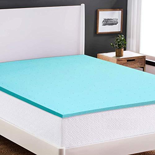 Nelaukoko 2 Inch Memory Foam Mattress Topper Twin XL Size Ventilated Gel Foam Mattress Pad Single Bed Topper for College Dorm