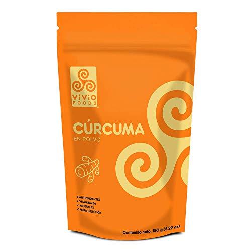 Vivio Foods Cúrcuma En Polvo, Cúrcuma, 150 gramos