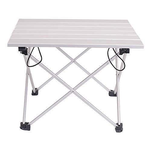 WYB Mesa plegable de aluminio portátil para cenas al aire libre, senderismo, camping, barbacoa, escritorio, de aleación, ultraligera, azul, rosa, gris, 40 x 35 x 29 cm