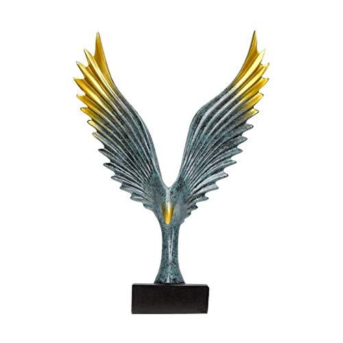 XJJZS Águila Escultura Decoración for el hogar Estatua y Fauna Regalos Art Spreading Wings