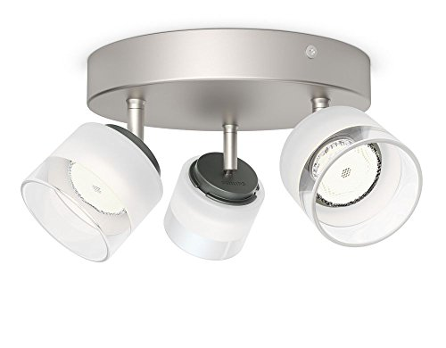 Philips myLiving Fremont LED Spot Plate/Spiral Light (3 x 4 W Integrated LED, 230 V) - Nickel