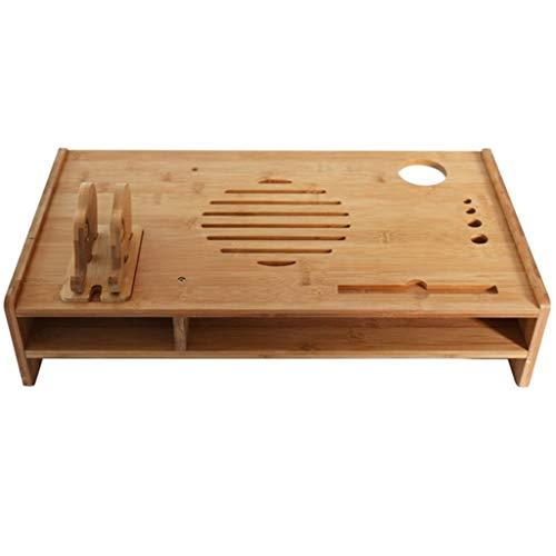 WALNUTA Soporte de Madera sólida, Moderna Mesa de café, Madera Look Acento Muebles de Forma Plegable for Sala de Estar Muebles pequeños