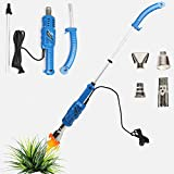 2000W Electric Garden Weed Burner Killer Torch Patio Hot Air Blaste Non-toxic Chemical-free Weeding, Up to 650℃ Strong Weed Killer Tool, w/3M Power Cord Weed Burner