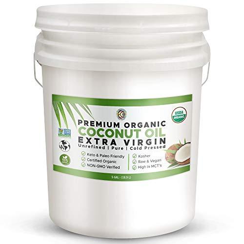 Earth Circle Organic Extra Virgin Unrefined Coconut Oil (5 Gallon)
