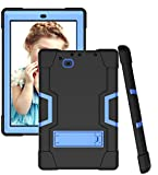 Koolbei for RCA 10 Viking Pro 10.1'(RCt6a03w13)/Atlas Pro 10.1 Case Hybrid Shockproof Rugged Anti-Impact Drop Protection Cover Built with Kickstand(Black/Blue)