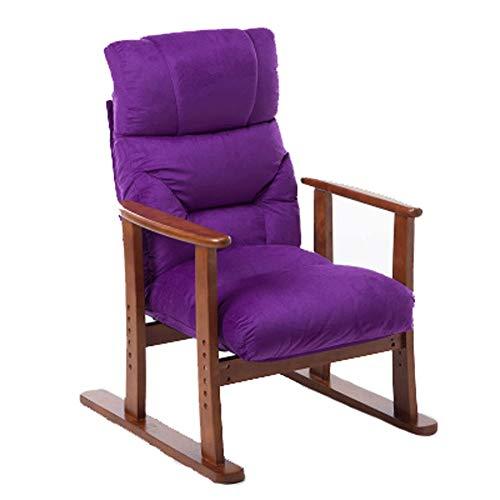 LQ-putongyizi Lazy Lounge Stoel - Ligstoel Nap Voor Binnen/Ouderen/Volwassene/Kinder/Slaapkamer/Kantoor/Verstelbaar Rood 70x65x100CM