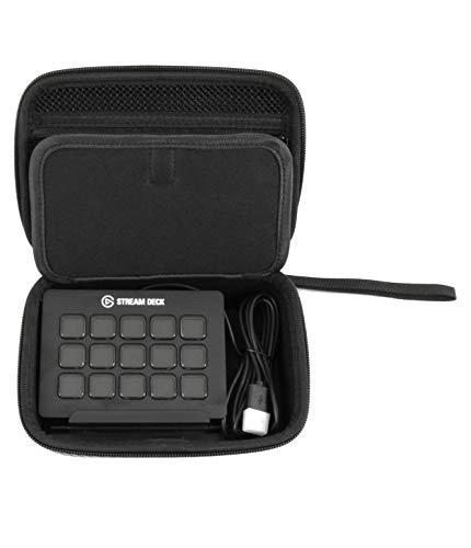 CASEMATIX Reisetasche kompatibel mit Elgato Stream Deck und verstellbarem Ständer, Game Capture HD60, Chat Link und Videospiel-Zubehör – nur Hülle