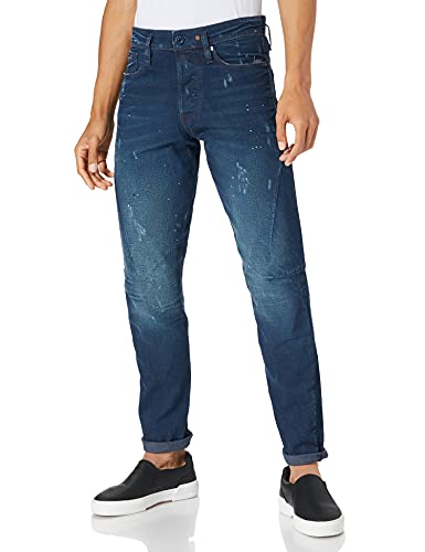 G-STAR RAW Herren Scutar 3D Slim Tapered Jeans, Blau (Worn in Taint Sestroyed 9657-C270), 34W / 34L