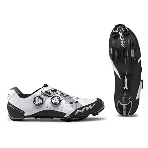 Northwave Sapatos Btt NW Ghost Pro, Zapatillas Unisex Adulto, Blanco, 45 EU