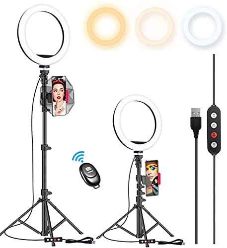 Kaiess 10.2' Selfie Ring Light with 65'...