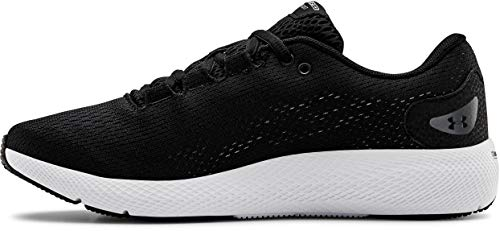 Under Armour Women's Charged Pursuit 2 Running Shoe, Black (001)/White, 6 M US