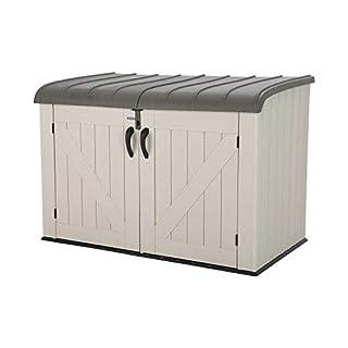 Lifetime 6 x 3.5 ft Heavy Duty Low Plastic Shed Horizontal Storage Box - Desert Sand/White (B01BHMKTAU) | Amazon price tracker / tracking, Amazon price history charts, Amazon price watches, Amazon price drop alerts