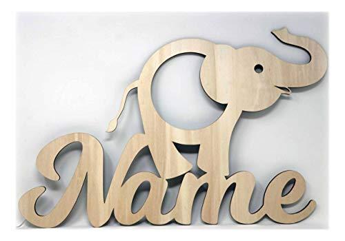 Elefant Figur Nachtlicht Lampe Geschenke mit Namen personalisiert I Optional mit Farbe