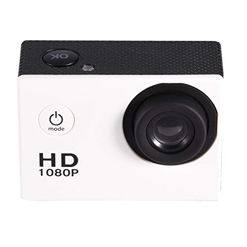 Wosune Mini videocámara con Pantalla de Alta definición, cámara DV, fácil de Instalar para Viajes al Aire Libre(White)