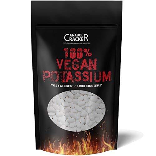 500 TABLETTEN - KALIUM / 100% Vegan Potassium Gluconat, Hochdosiert 495mg pro Tagesportion