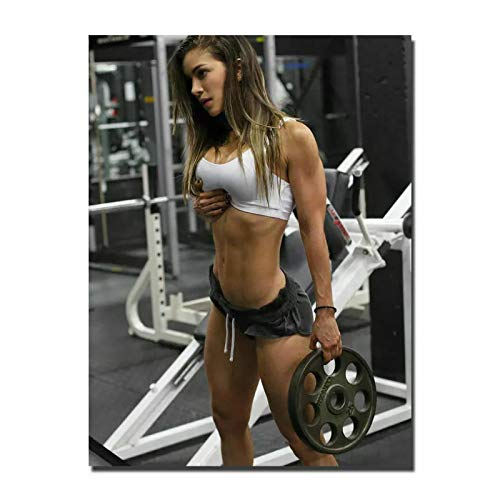 IDOLN1 Posters and Prints Hot Anllela Sagra Bodybuilding Sexy Girl Gym Art Poster Canvas Painting Home Decor Decoration Gift -24x32 Inch No Frame 1 PCS