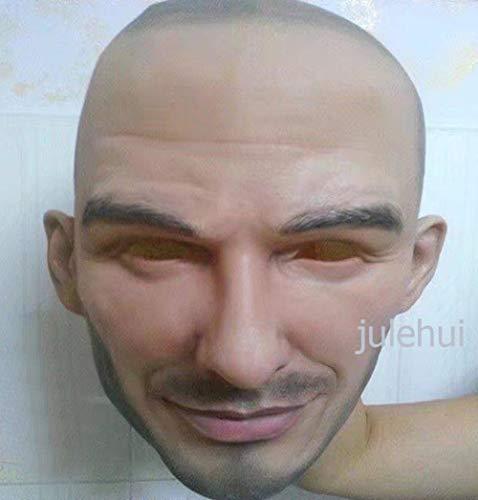 TURZJH Mascara Fiesta de Halloween Cosplay Máscara Facial Fiesta de látex Máscara de Rostro Humano Real Máscara Realista Genial