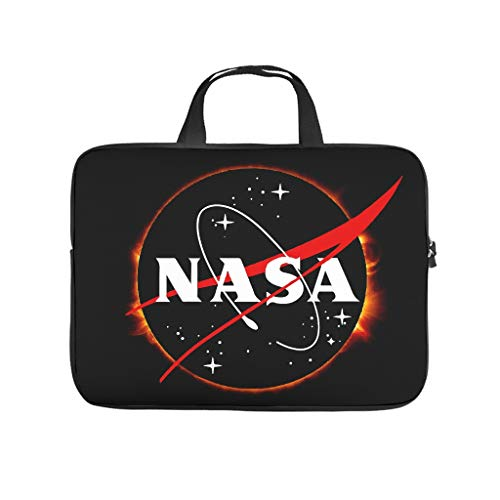 NA-SA Solar Eclipse Laptop Case Bag Water-Resistant Tote Bag for Notebook/MacBook/Ultrabook/Chromebook White 13 Zoll