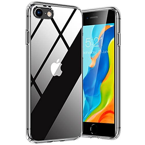 TORRAS Diamond Series für iPhone 7/8/SE 2020 Hülle (Vergilbungsfrei) Extrem Transparent iPhone SE Hülle/iPhone 8 Hülle/iPhone 7 Hülle Hard Back & Silikon Bumper Handyhülle (Durchsichtig)